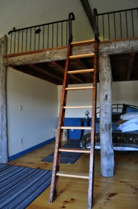 Ladder to the Barn Guesthouse Space Loft