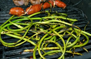 Grilled Garlic Scapes - Photo from HungryAgain.net