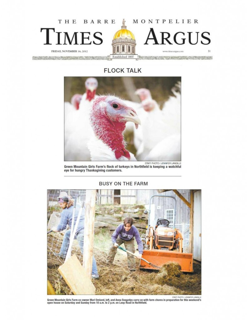 Thanksgiving Photos in the Times-Argus