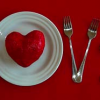 LOVE in silverware