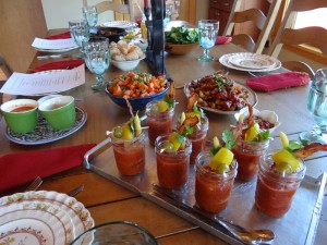 Local Mary's (Heirloom Tomato Bloody Mary's with a local twist)