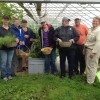Kitchen group in greenhouse