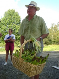 Roy Butler delivering corn