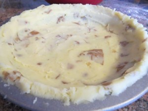 Mashed potato case - before