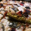 broccoli pizza with garlic and dried tomatoes