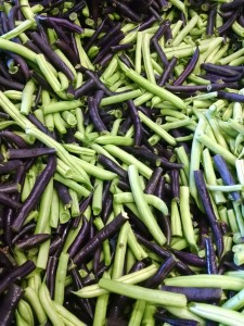 beans purple and green