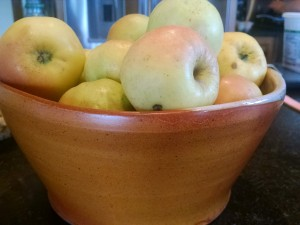 yellow farm apples