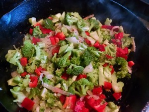 broccoli peppers onions for broccoli pie
