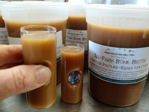 demo of bone broth shot