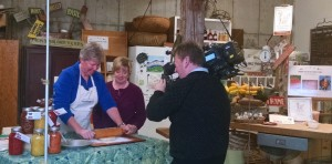 donna rolling lard pie crust with wcax