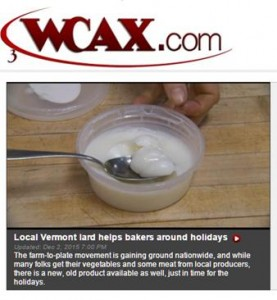 lard on wcax with logo