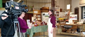laura talking lard in farmstand with wcax