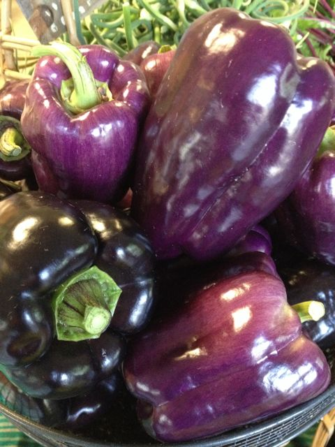 Summer veggies are starting to come in, including peppers!