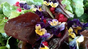 spring salad with flowers 2