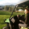chloe driving gator with view