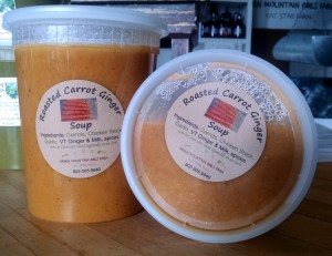 roasted carrot soup packed in farmstand